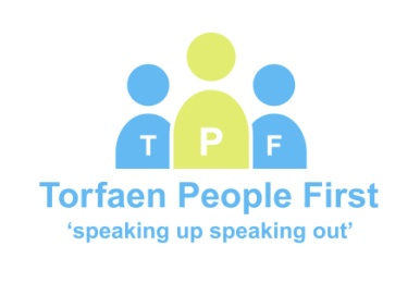 Torfaen People First logo